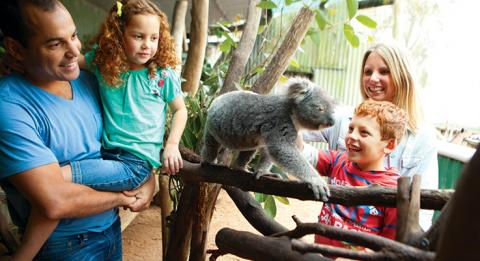 Family at Oakvale Farm and Fauna World, Port Stephens