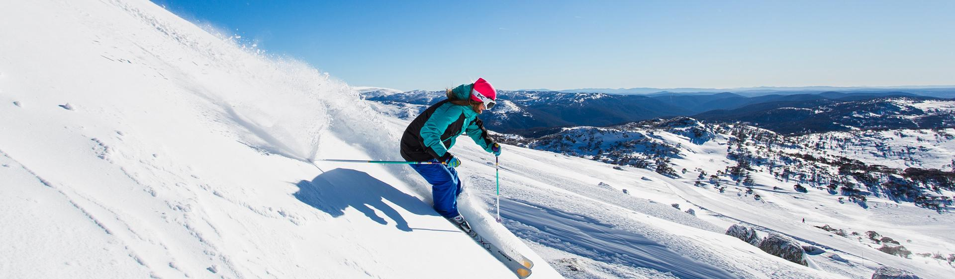 Skiing in Perisher, Snowy Mountains